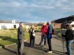 Nordic Walking. Enjoying a break at Cultybraggan